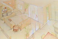 17-Progetto soggiorno con scala