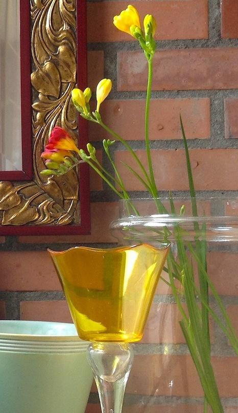 vasetto vetro giallo